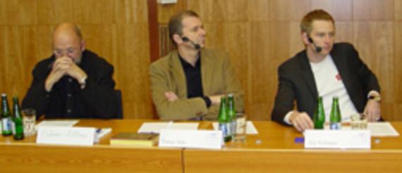 Günter Höhne, Designer und Buchautor; Dietmar Mühr, Internationales Design Zentrum Berlin; Jörg Wichmann, Berlinomat; Alexander Bretz, VDMD;
