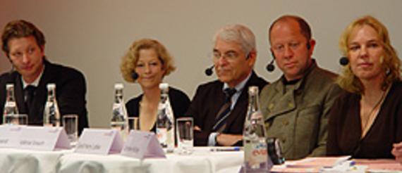 Kristian Jarmuschek, Barbara Wiegand, Volkmar Strauch†, Gerd Harry Lybke, Catherine Hickley (v.l.)