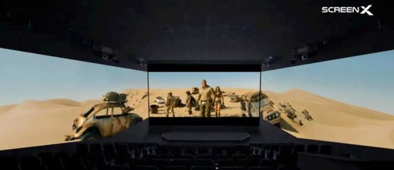 """Der Film """"Jumanji: The Next Level"""" wird neuerdings im 270-Grad-Format von Screen X gezeigt."""