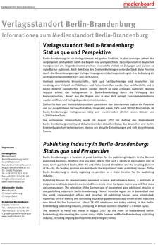 Verlagsstandort Berlin-Brandenburg
