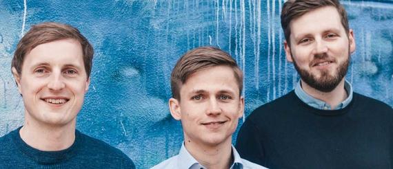 Die Berliner Gründer Holger Seim, Niklas Jansen und Tobias Ballig, ©Blinkist
