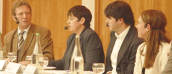 Werner Tammen, Signe Theill, Ivo Wessel, Sabrina van der Ley (v.l.)