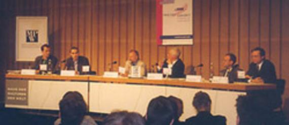 Sven Mörs, Andreas Hoffmann, Dr. Wolfgang Both, Moderator: Alfred Eichhorn,  Alexander Tettenborn, Rainer Ihde (v.l.)