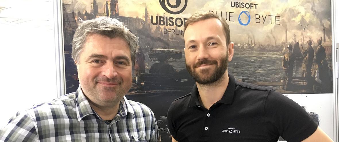 Benedikt Grindel und Istvan Tajnay von Ubisoft Blue Byte