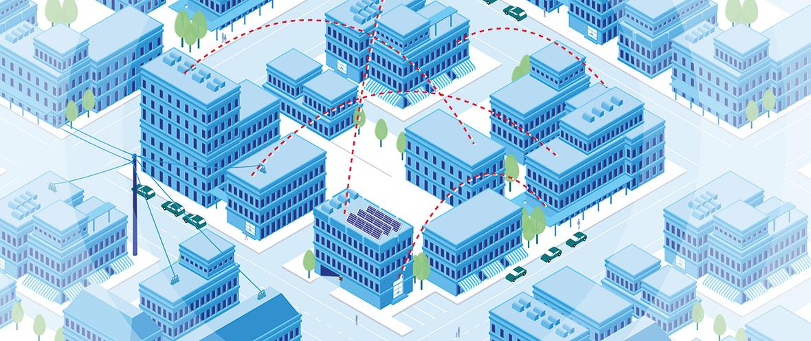 Grafische Aufbereitung einer intelligenten Städteplanung