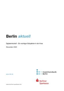 IBB: Berlin Aktuell Digitalwirtschaft November 2020 © IBB