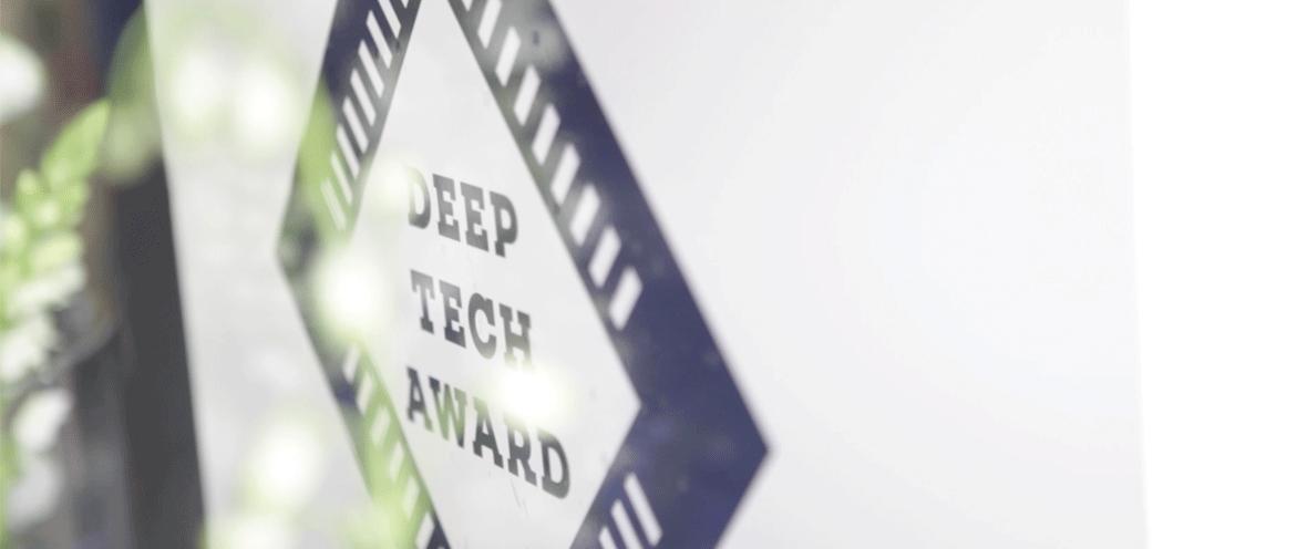 Deep Tech Award Logo auf weißem Hintergrund